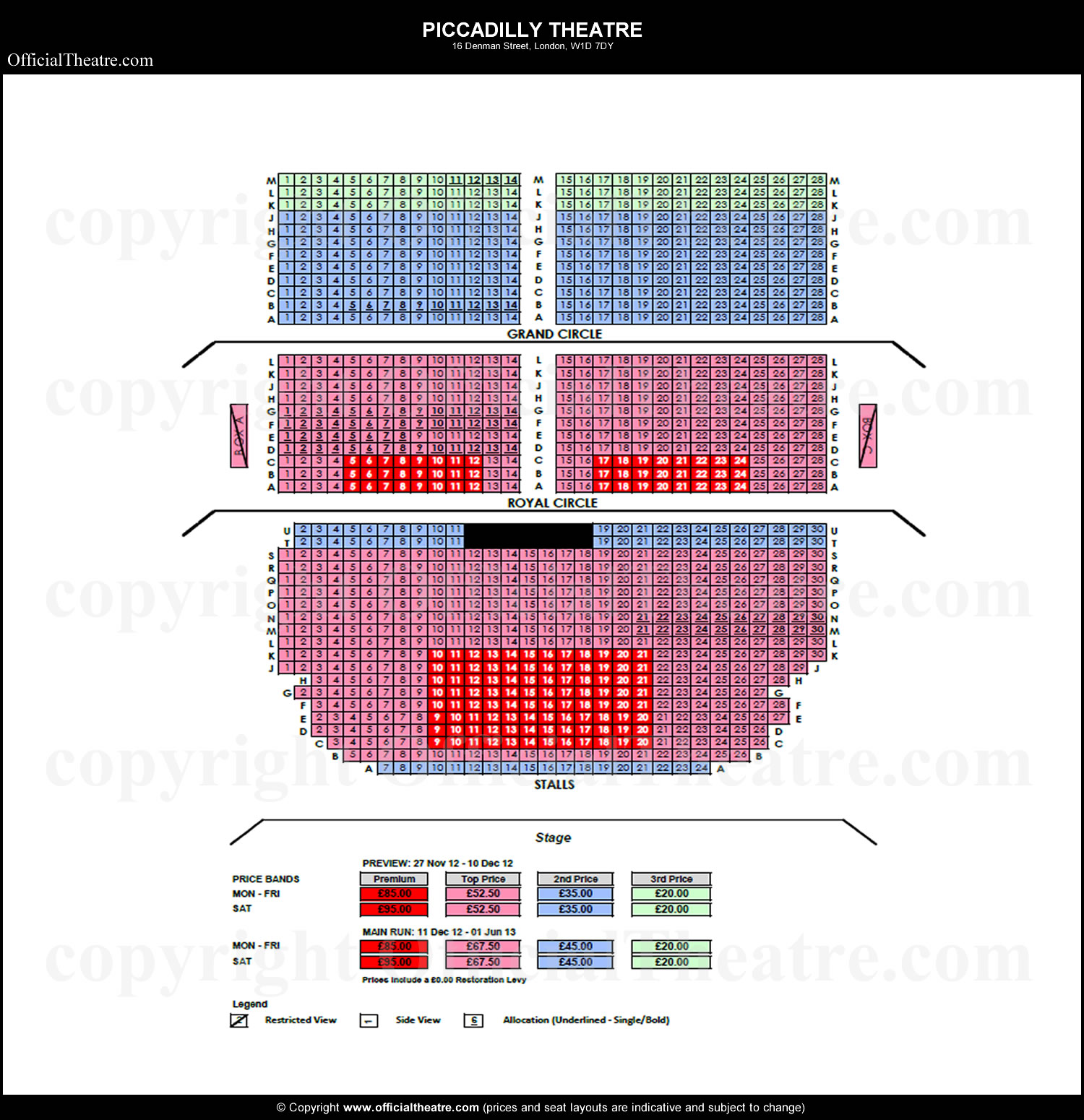Jersey boys broadway seating chart for Broadway plan