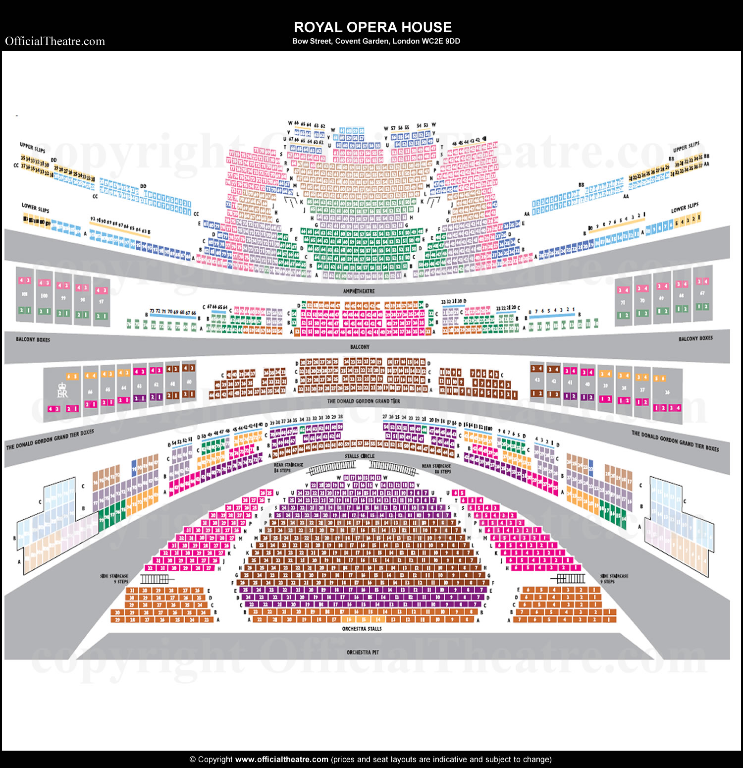 Royal Opera House London seat map and prices – Royal Opera House Floor Plan