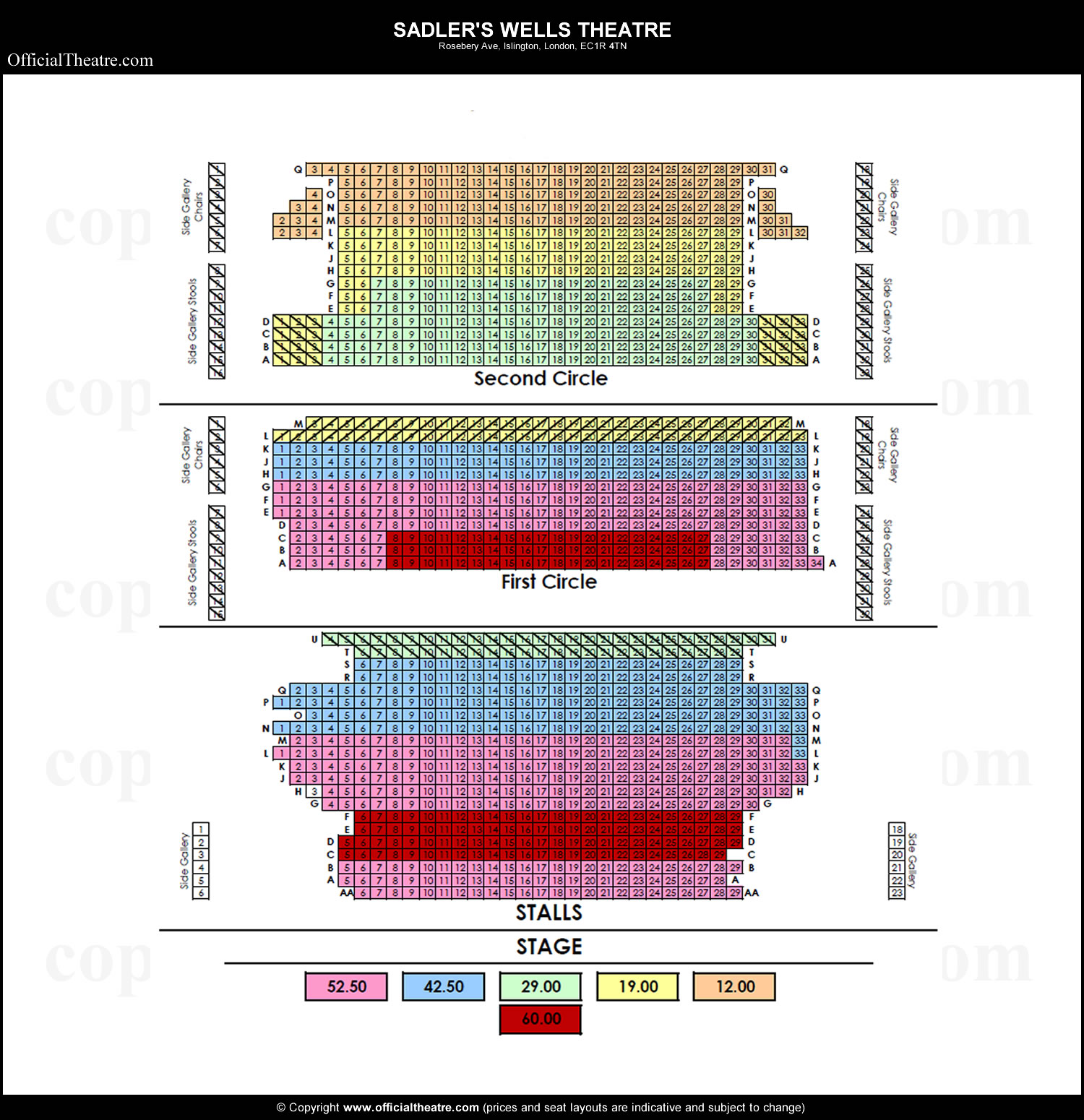 Sadler's Wells seating plan
