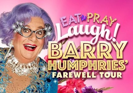 Barry Humphries Eat Pary Laugh palladium big