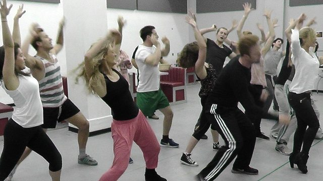 Happy days the musical rehearsal ot size