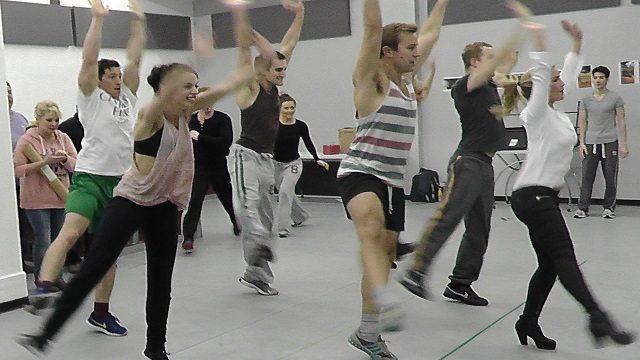 rehearsal shots Happy Days
