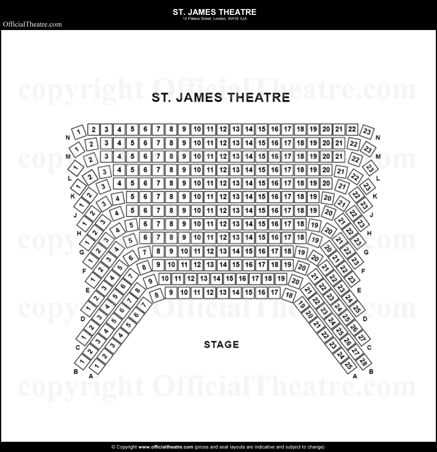 St James Theatre Seating Prices