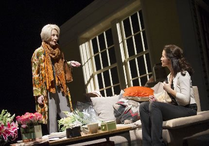 Official Theatre Size Jane Howe (Joan) and Kristin Davis (Beth Gallagher) in Fatal Attraction Photo Credit Tristram Kenton