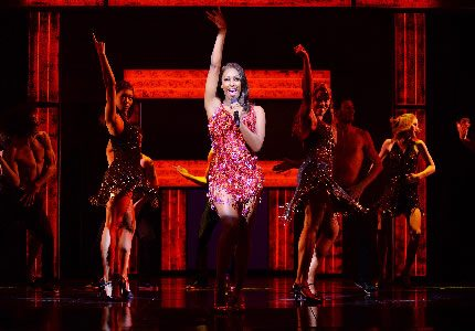 Alexandra Burke  (Rachel Marron) in The Bodyguard at The Adelphi Theatre  Photo Credit Alessandro Pinna OT size