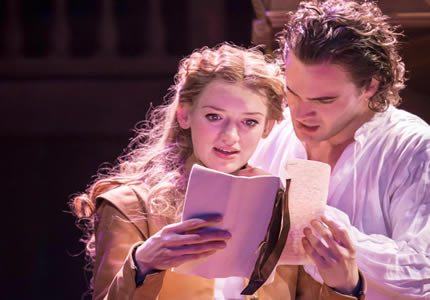 Shakespeare In Love 4 (LR) - Lucy Briggs-Owen as Viola and Tom Bateman as Will OT