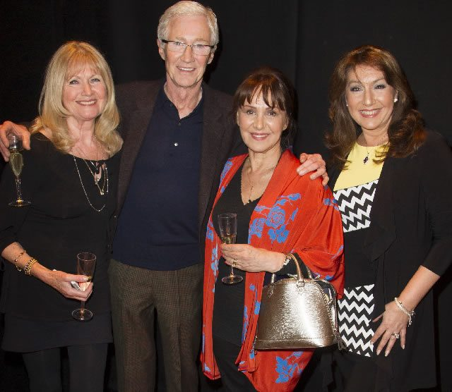 Debbie Moore Arlene Phillips Paul O'Grady  Jane McDonald at the Press Night for Gypsy  Photo  Dan Wooller