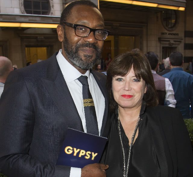 FIRST NIGHT Lenny Henry and Lisa Makin at the Press Night for the West End transfer of Gypsy at the Savoy Theatre  Photo credit Dan Wooller