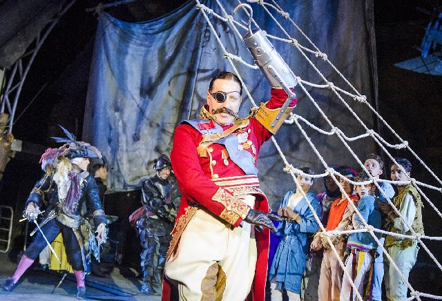 David Birrell as Captain Hook (1). Photo Tristram Kenton