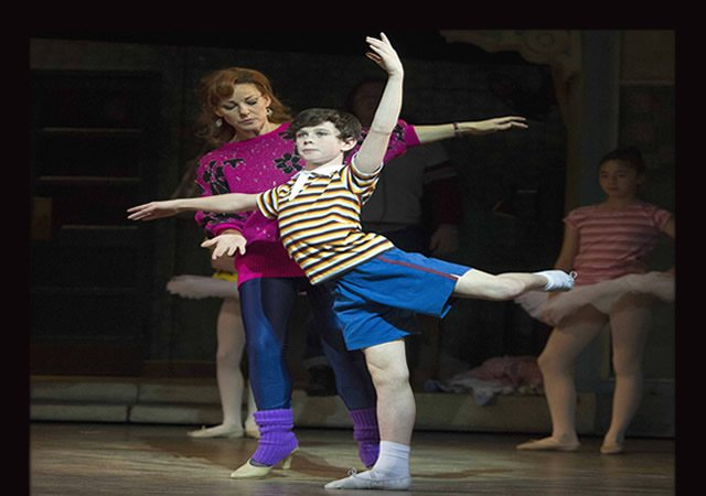 Review Brodie Donougher (Billy Elliot) in Billy Elliot the Musical at the Victoria Palace Theatre  Photo by Alastair Muir