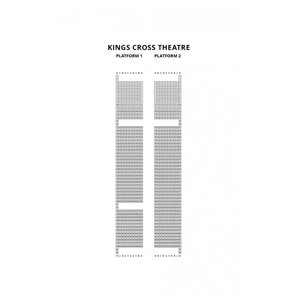 Kings Cross Theatre seating plan