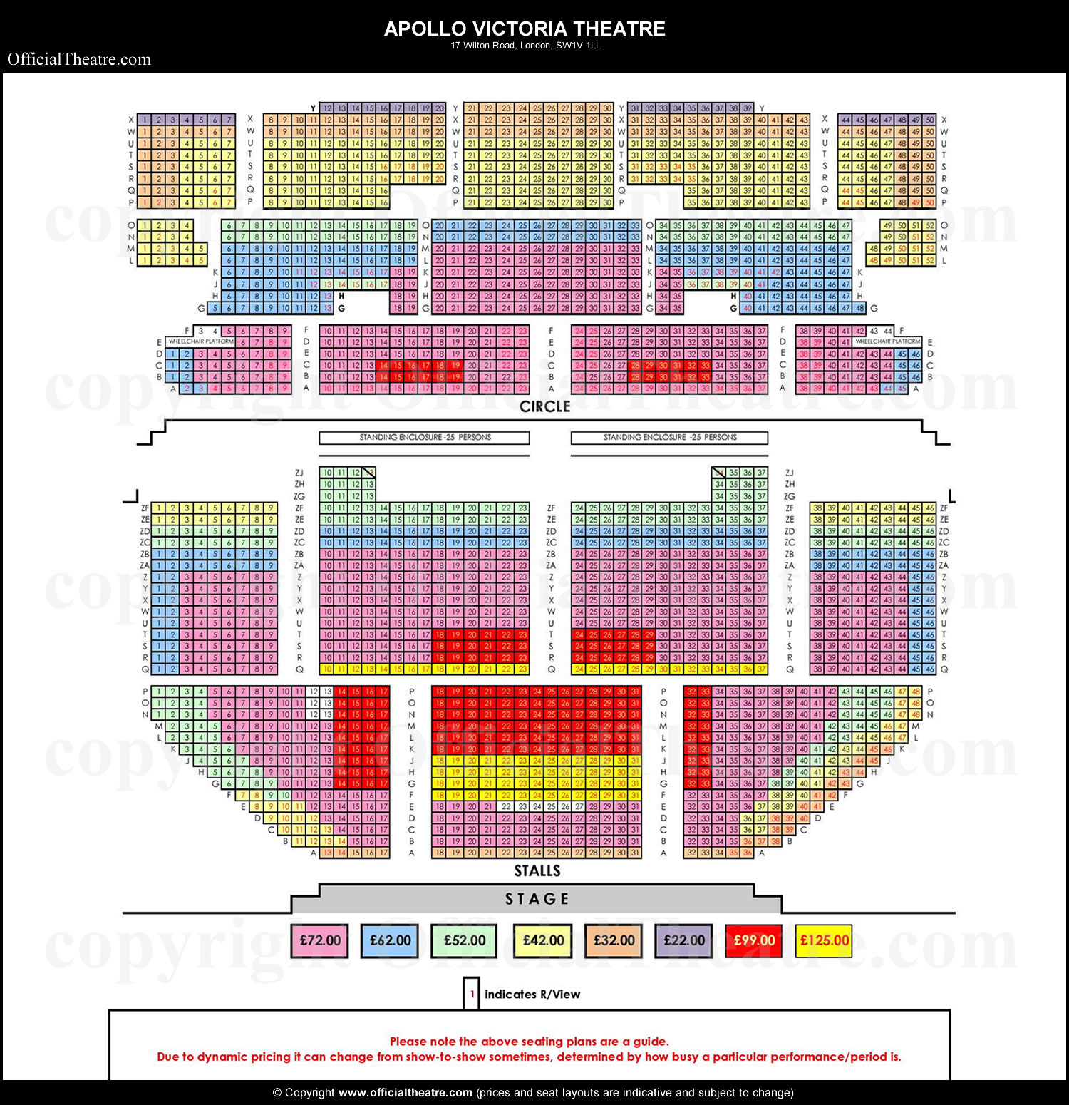Apollo Victoria Theatre seat prices Wicked