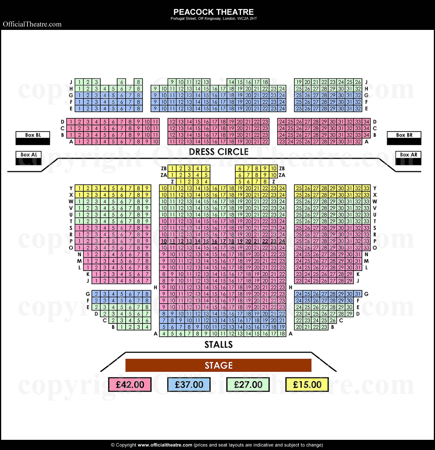 Peacock Theatre seat prices Tango Fire