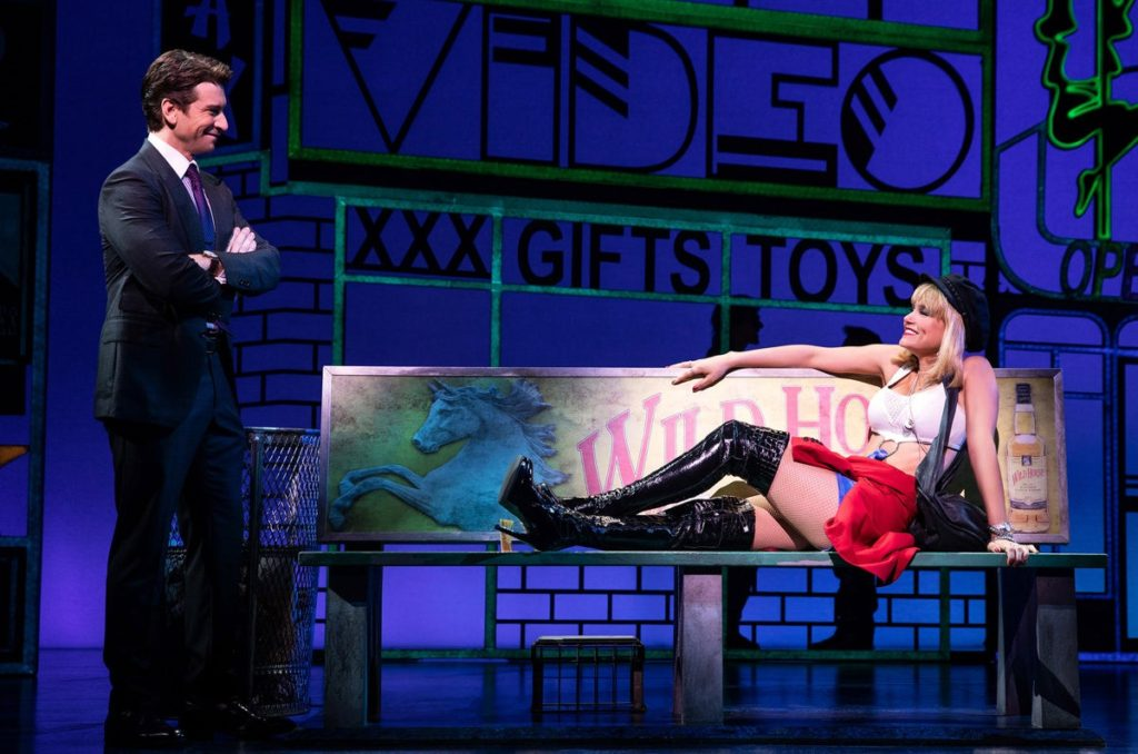 Samantha Barks as Vivian Ward and Andy Karl as Edward Lewis in the Broadway production of Pretty Woman: The Musical