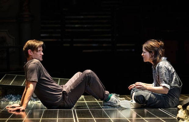 Matt Smith and Claire Foy on stage in Lungs at the Old Vic, London