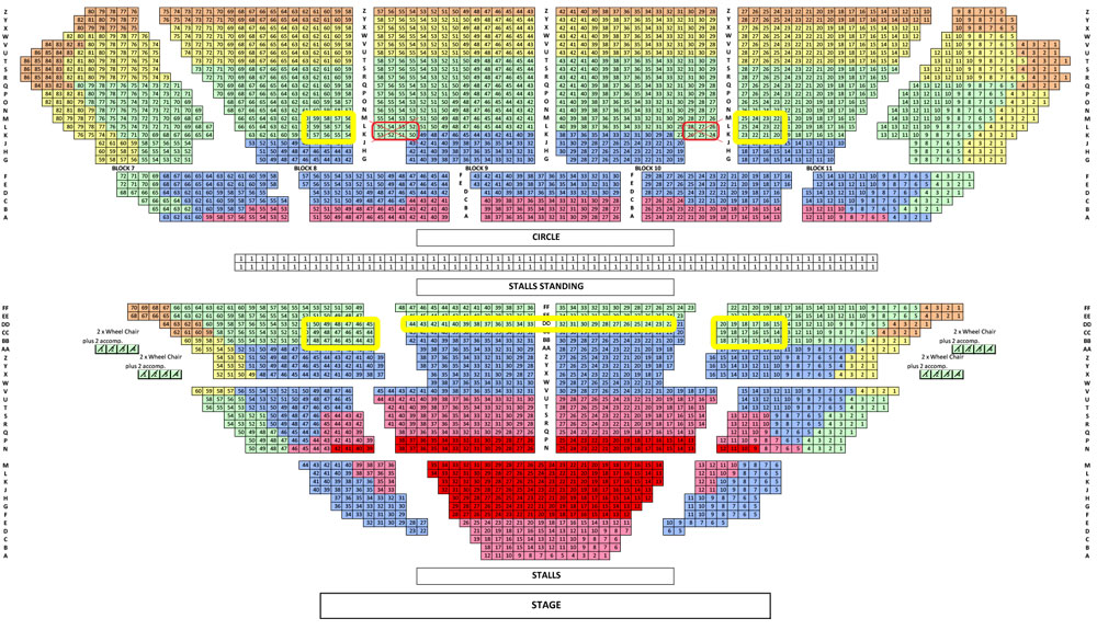 Eventim Apollo Seating Plan with recommendations for Sister Act the Musical
