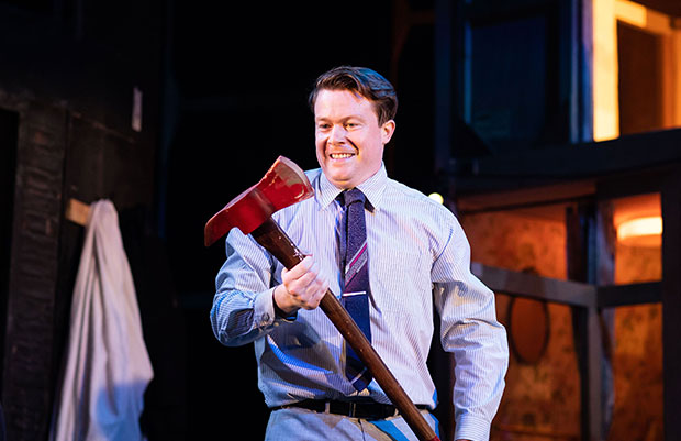 Daniel Rigby as Garry Lejeune in Noises Off at the Garrick Theatre