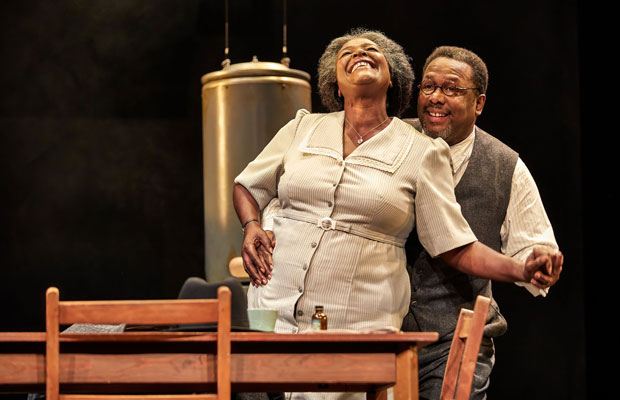 Wendell Pierce and Sharon D Clarke as Willy and Linda Loman in Death of a Salesman