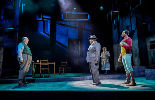 Wendell Pierce, Sope Dirisu and Trevor Cooper on stage in Death of a Salesman at Piccadilly Theatre