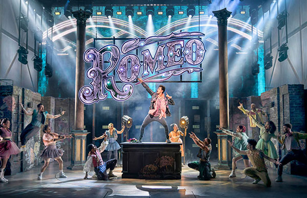 Luke Gage as Romeo in & Juliet at the Shaftesbury Theatre