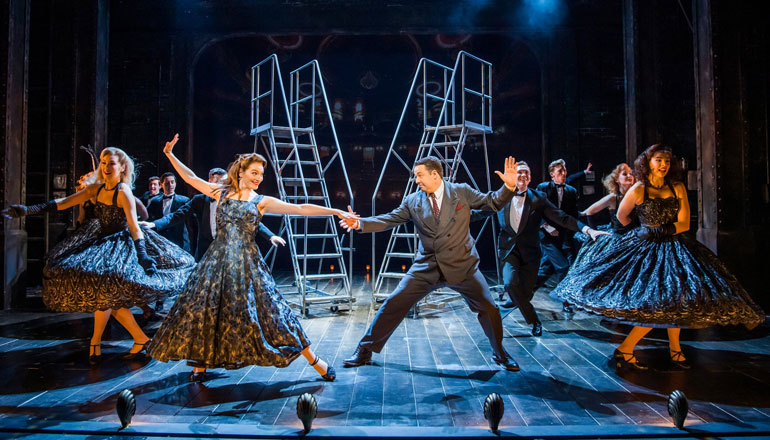 The cast of Curtains performing at the Wyndham's Theatre, London