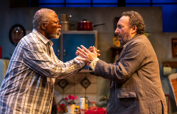 John Kani and Antony Sher performing in Kunene and the King at the Ambassadors Theatre