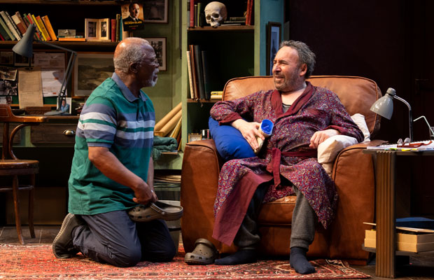 John Kani and Antony Sher on stage in Kunene and the King