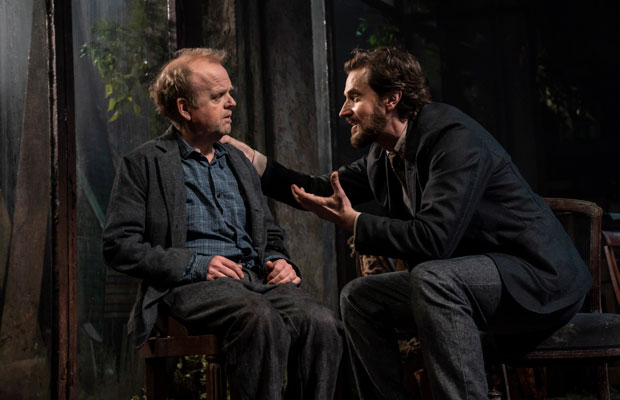Toby Jones and Richard Armitage on stage in Uncle Vanya at the Harold Pinter Theatre