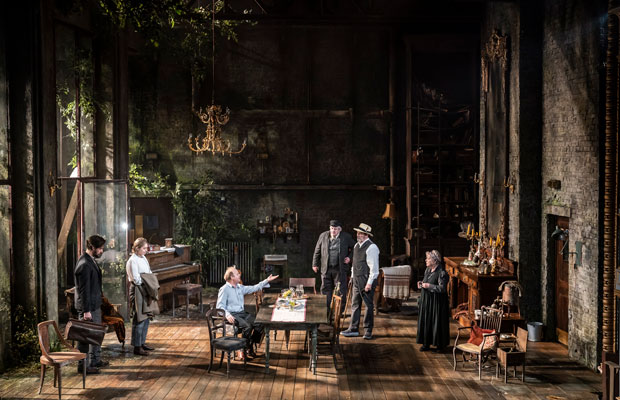 The cast of Uncle Vanya on stage at the Harold Pinter Theatre in London