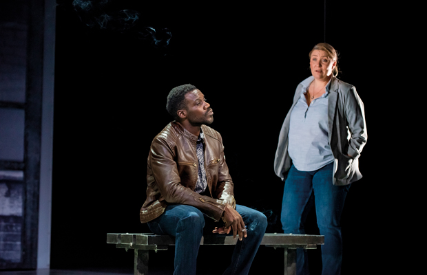 Melissa Jacques and Marlon G Day in Everybody's Talking About Jamie at the Apollo Theatre