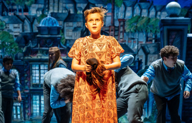 Toby Mocrei as Dennis in The Boy in the Dress at the Royal Shakespeare Theatre, Stratford-upon-Avon