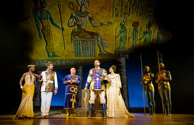 Several castmembers of The Prince of Egypt in full costume at the Dominion Theatre, London