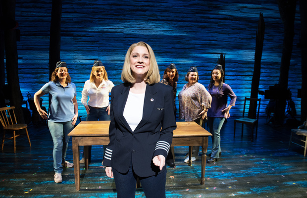 Alice Fearn as Captain Beverley Bass in Come From Away at the Phoenix Theatre