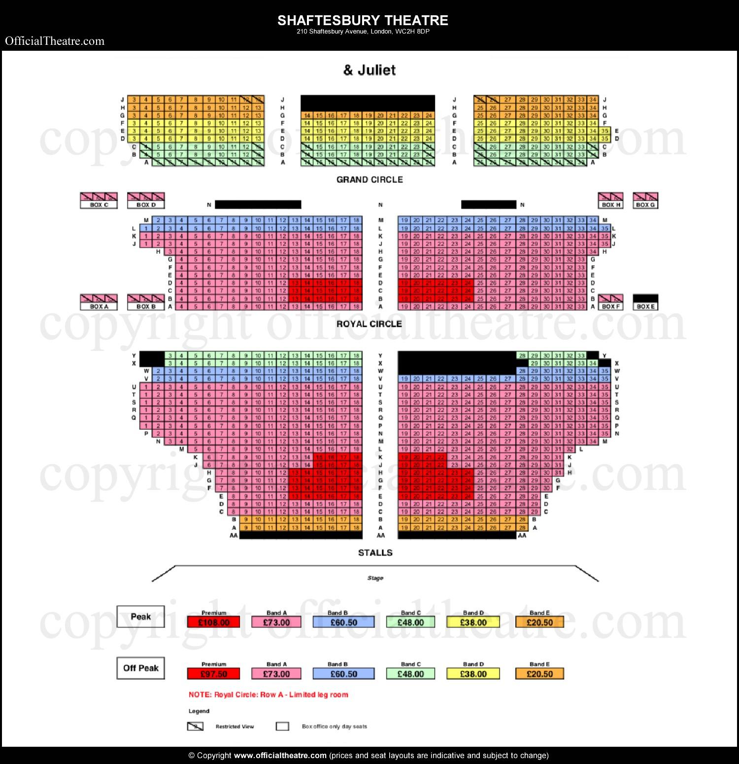 Shaftesbury-Theatre-seat-prices-Juliet