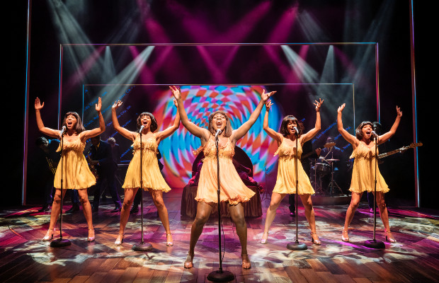 The cast of Tina: The Tina Turner Musical at the Aldwych Theatre